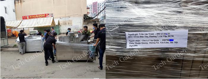 Hình ảnh: Chuẩn bị đưa máy ra Hà Nội giao khách