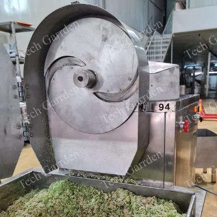 Lemongrass slicing machine